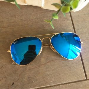 Blue aviator RayBans